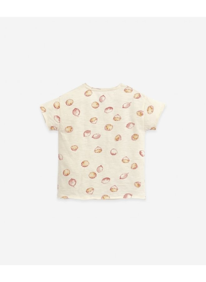 T-ShirtPrinted Flamé Jersey - Dandelion