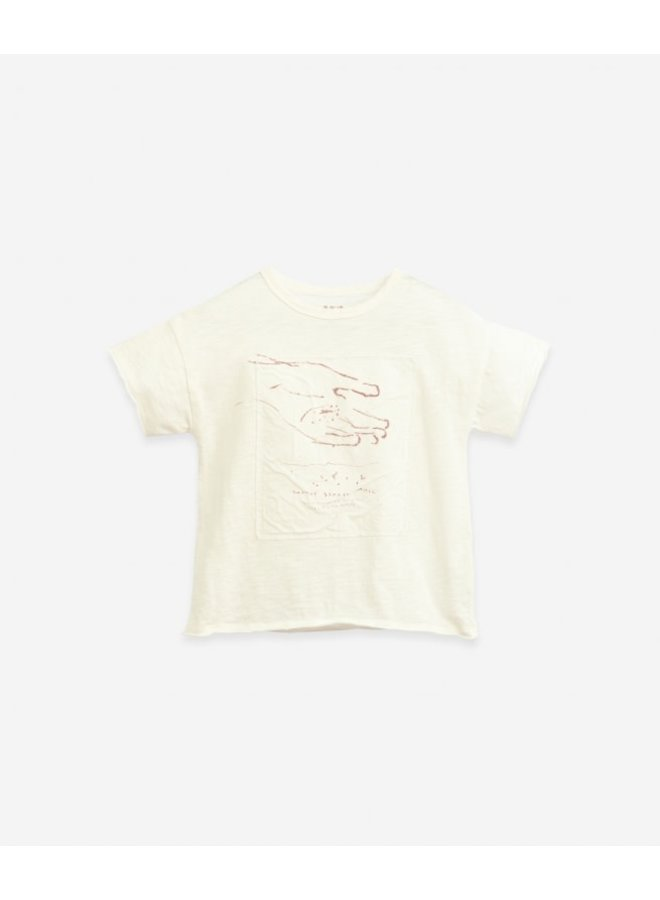 T-shirt with woven application - Windflower