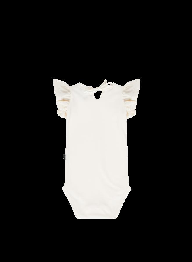 Ruffled bodysuit - Cream