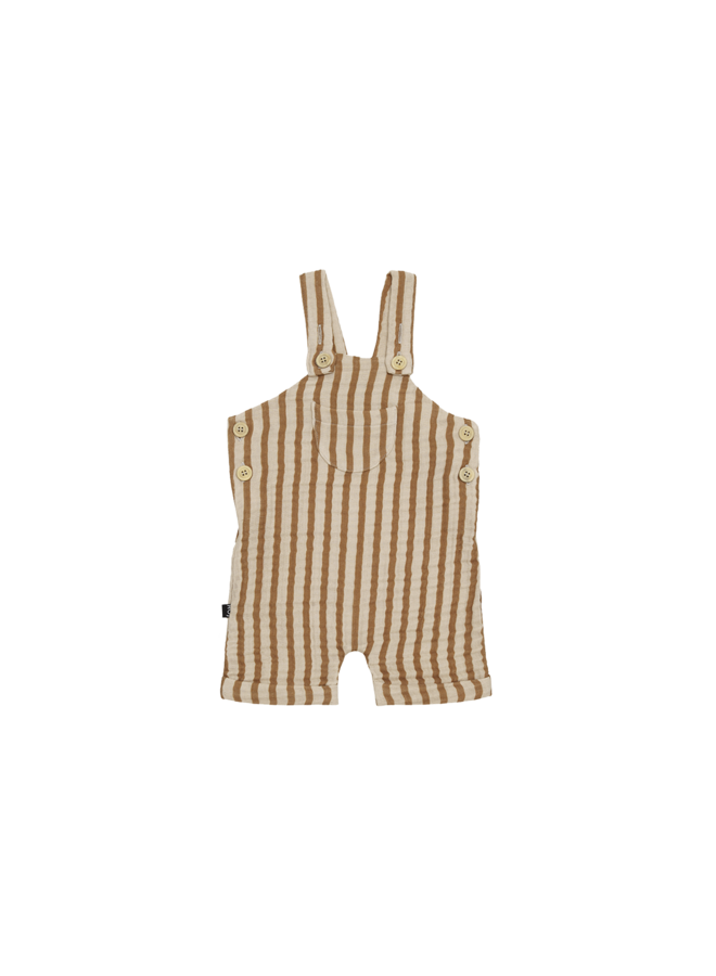 Relaxed dungaree - Vertical apple cider stripes