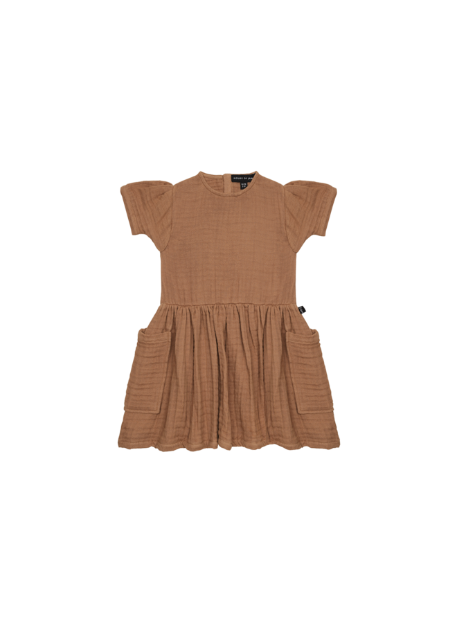 Relaxed pocket dress - Burnt ginger