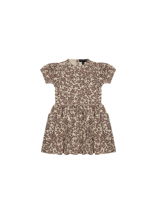 Relaxed pocket dress - Rose dawn blossom