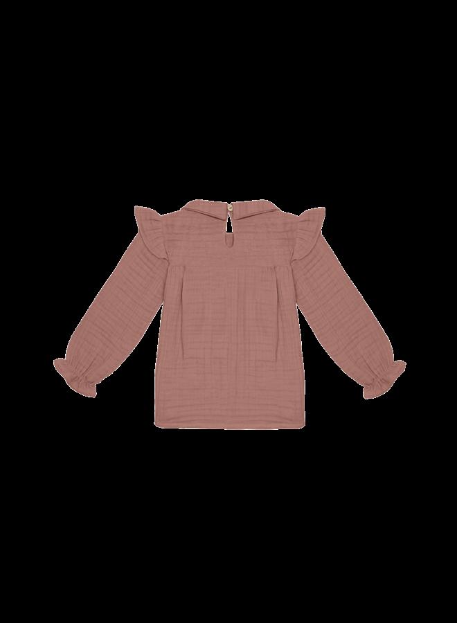 Collar tunic - Rose dawn