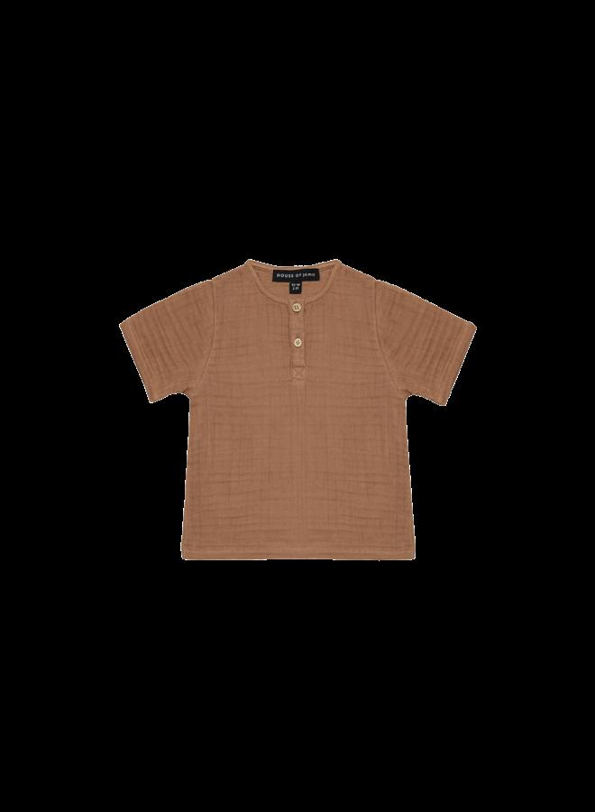 Henley shirt - Burnt ginger