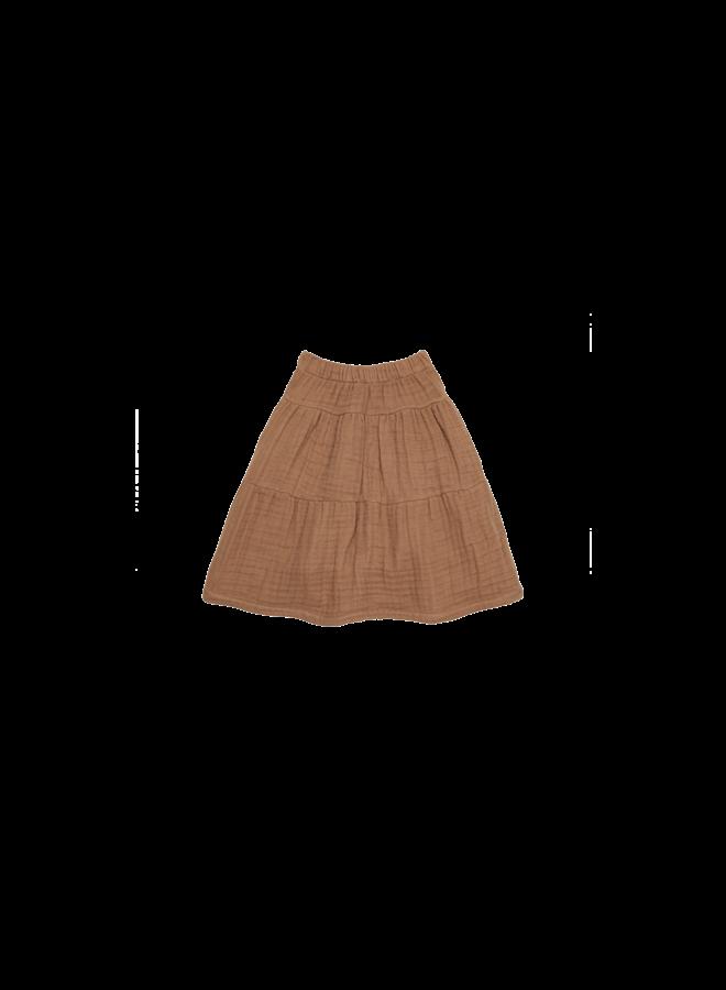 Midi skirt - Burnt ginger