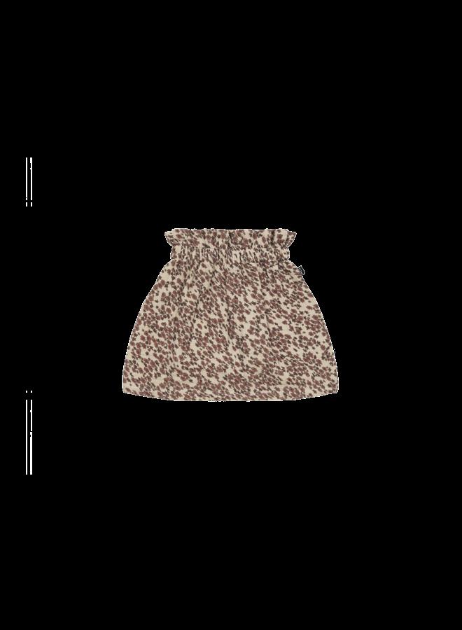 Summer paperbag skirt - Rose dawn blossom