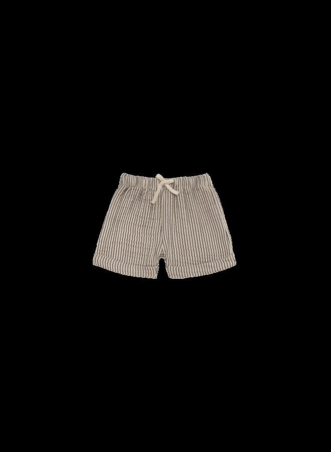 Bermuda - Charcoal stripes