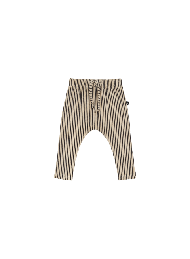 Baby pants - Charcoal sheer stripes