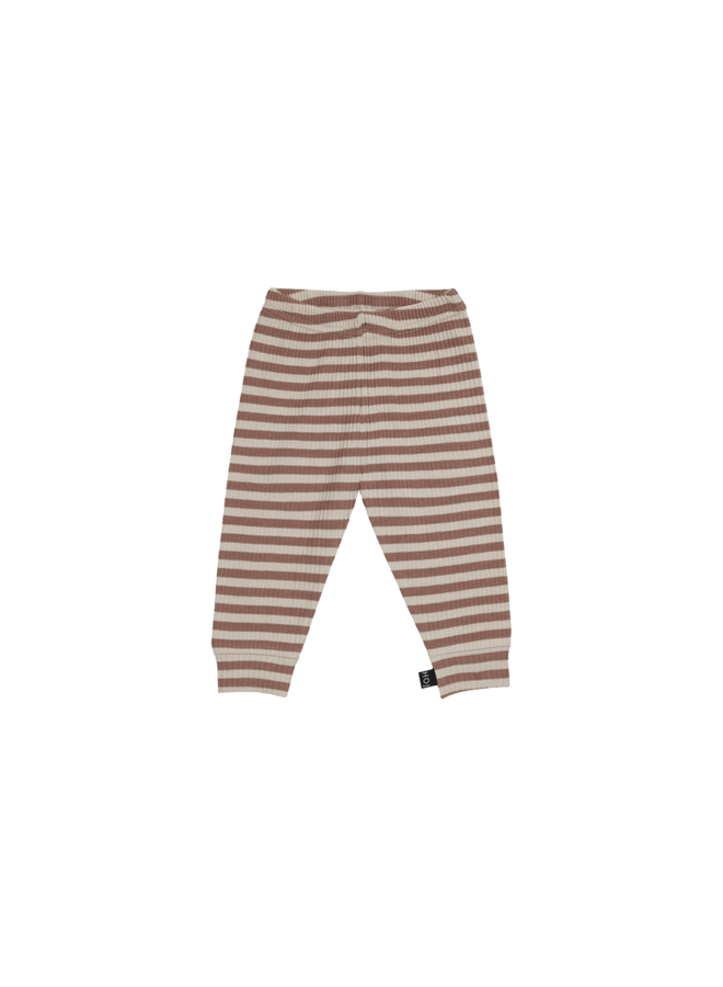 Rib legging - Baked clay stripes
