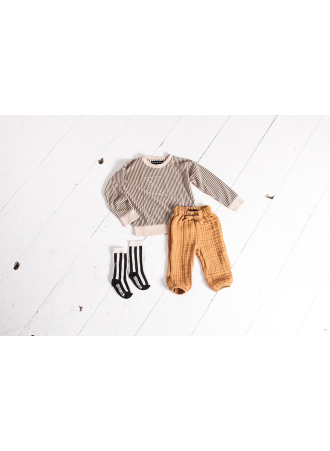 Baby relaxed pants - Apple cider