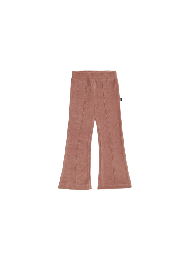 Flared pants - Baked clay