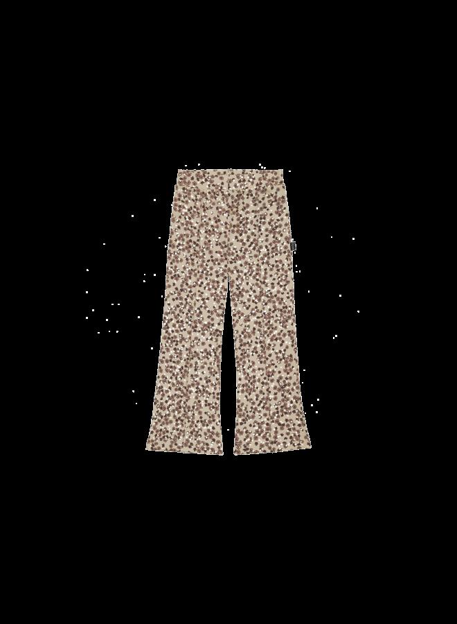 Flared pants - Golden rose dawn blossom