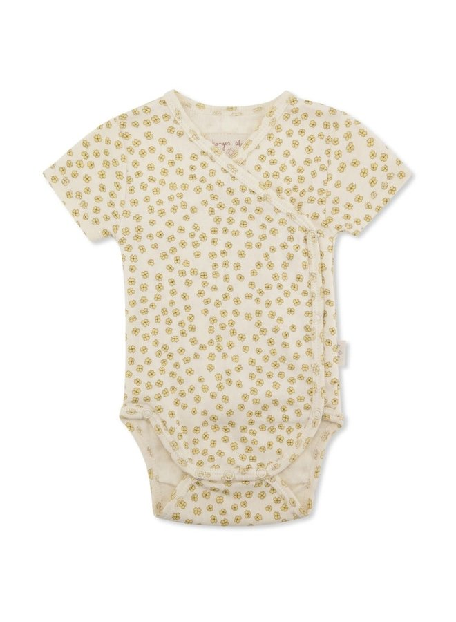New born body short sleeve - Buttercup yellow