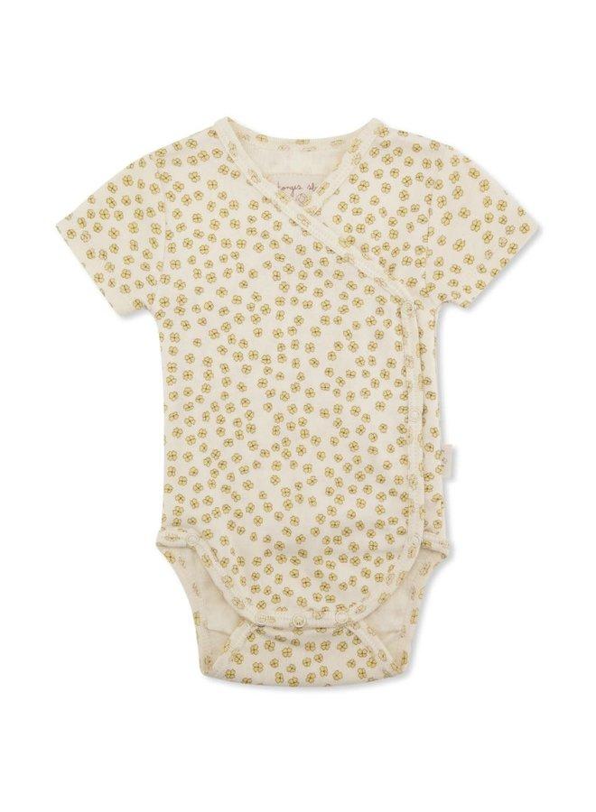 Newborn body short sleeve - Buttercup yellow