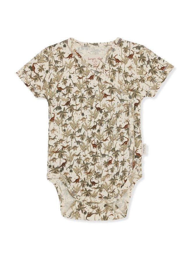 New born body short sleeve - Dino