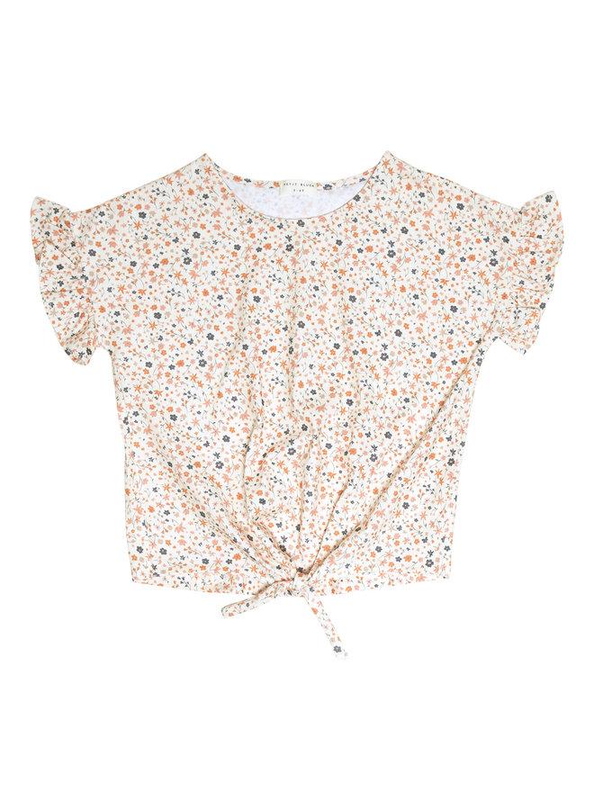 Knot T-shirt - Floral print