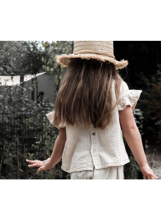 Loua frill blouse - Sandshell