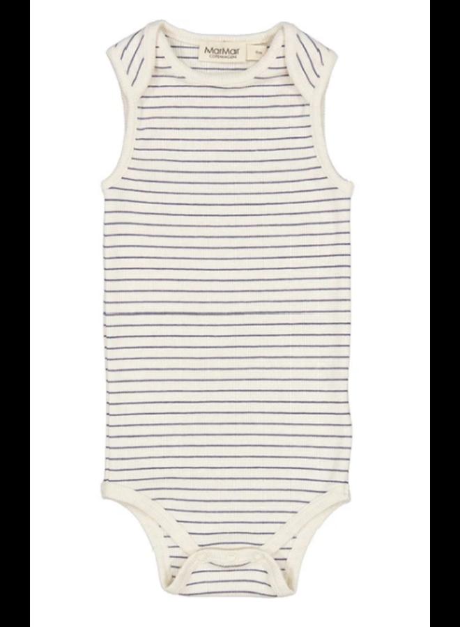 Romper modal short sleeve - Blue stripe
