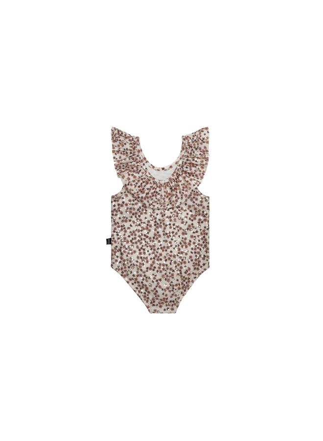 Frill swimsuit - Golden rose dawn blossom