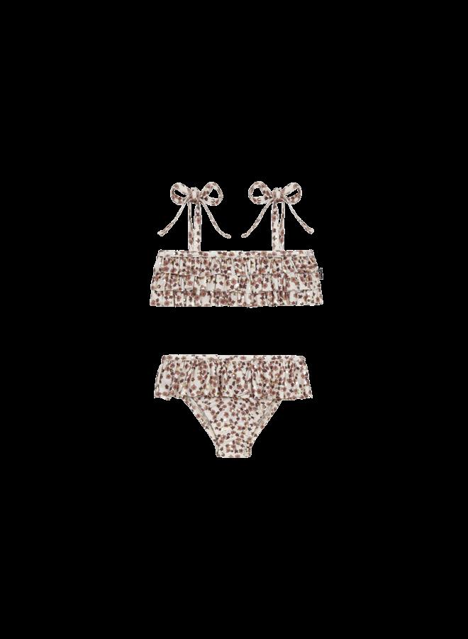 Fringe bikini - Golden rose dawn blossom