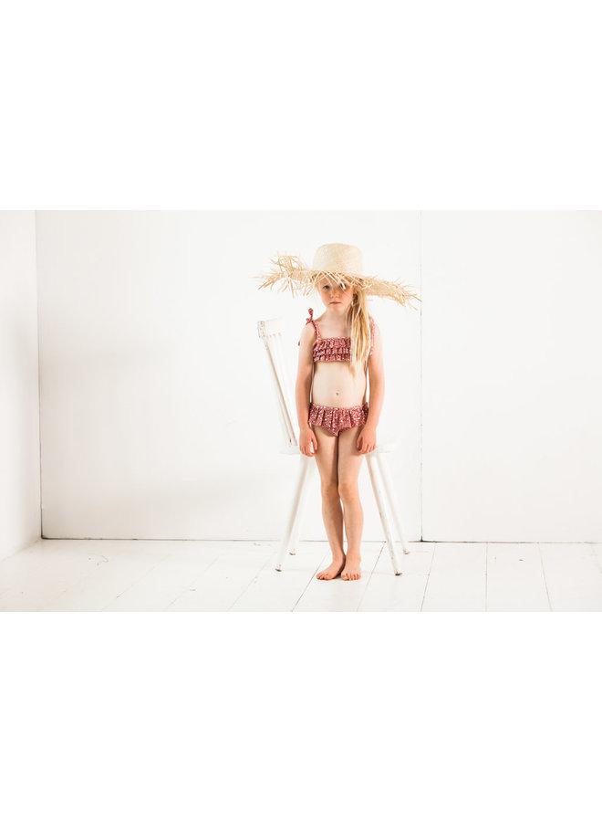 Fringe bikini - Rose dawn leopard