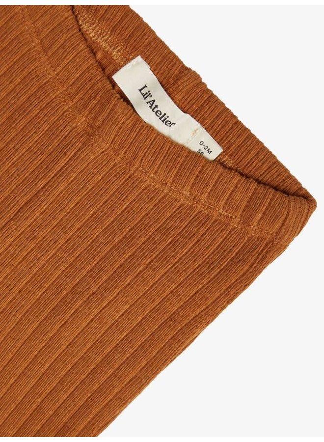 Geribte legging - Glazed ginger / bruin