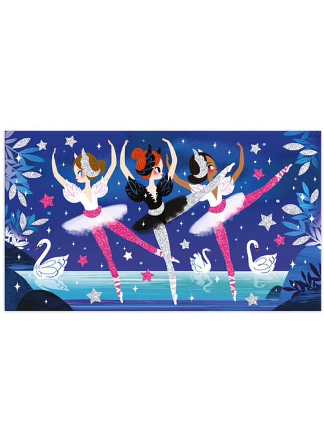 Neon glitter ballerina - Janod Atelier
