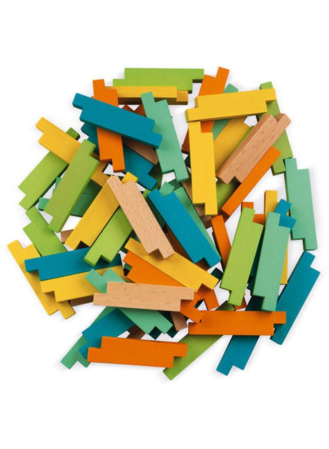 Houten blokken - Constructie (60 stuks)