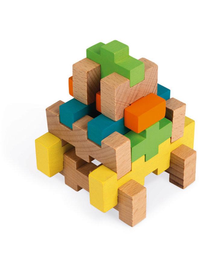 Houten blokken - Constructie (100 stuks)