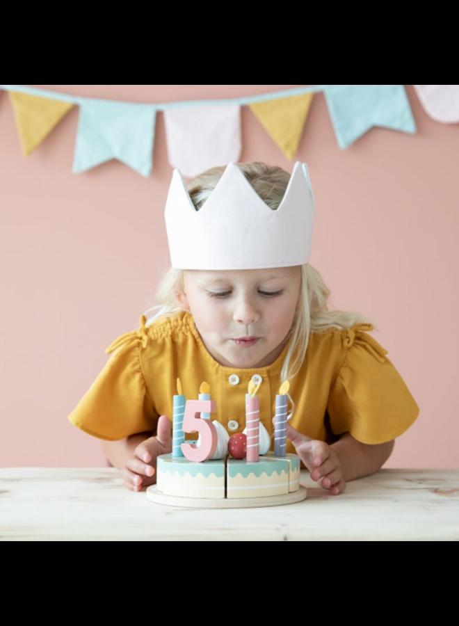 Houten verjaardagstaart - 26-delig