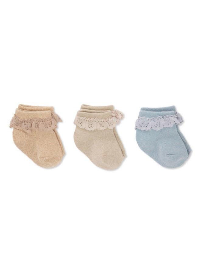 3 pack Lace lurex socks - Ocean eyes