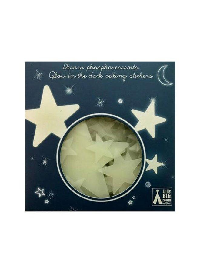Glow in the dark muurstickers - Stars