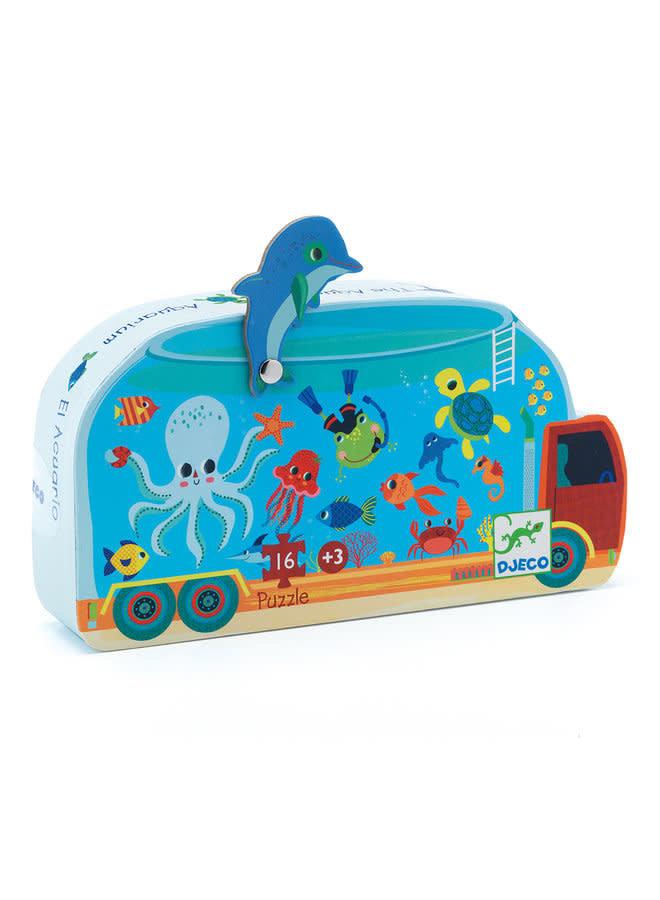 Silhouette puzzle - Aquarium (16st.)