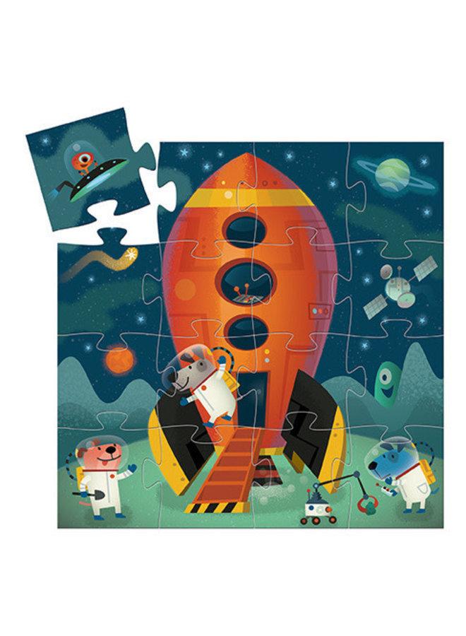 Silhouette puzzle - Spaceship (16 st.)