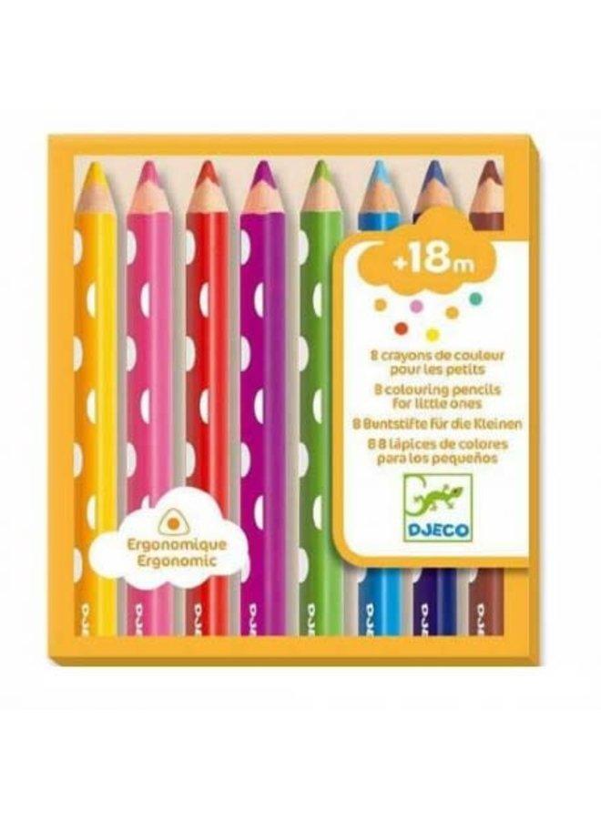 8 Kleurpotloden - Kleuren voor beginners