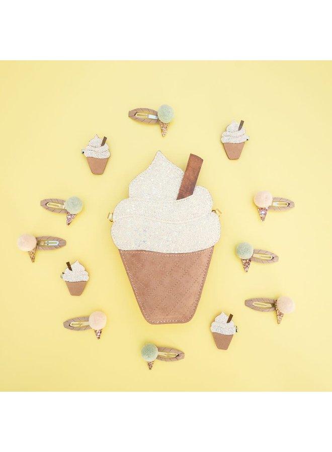 Haarclipjes - Pompom ice cream