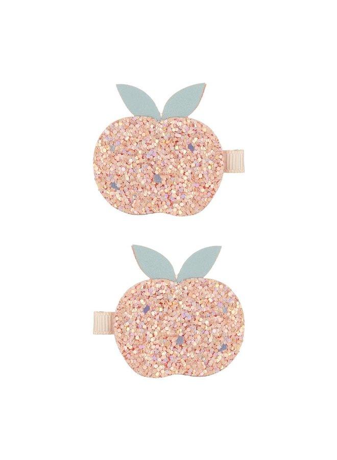 Clips - Glitter peach