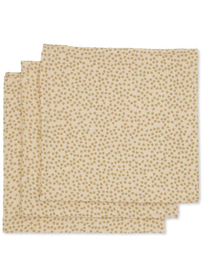 Hydrofiele doeken (3-pack) - Buttercup yellow