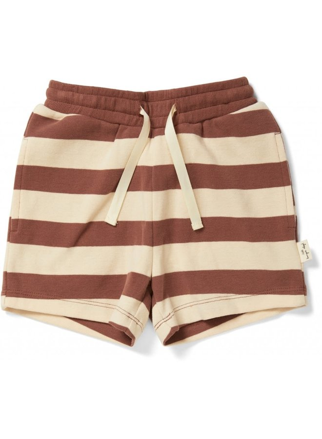 Lou short - Striped fig brown