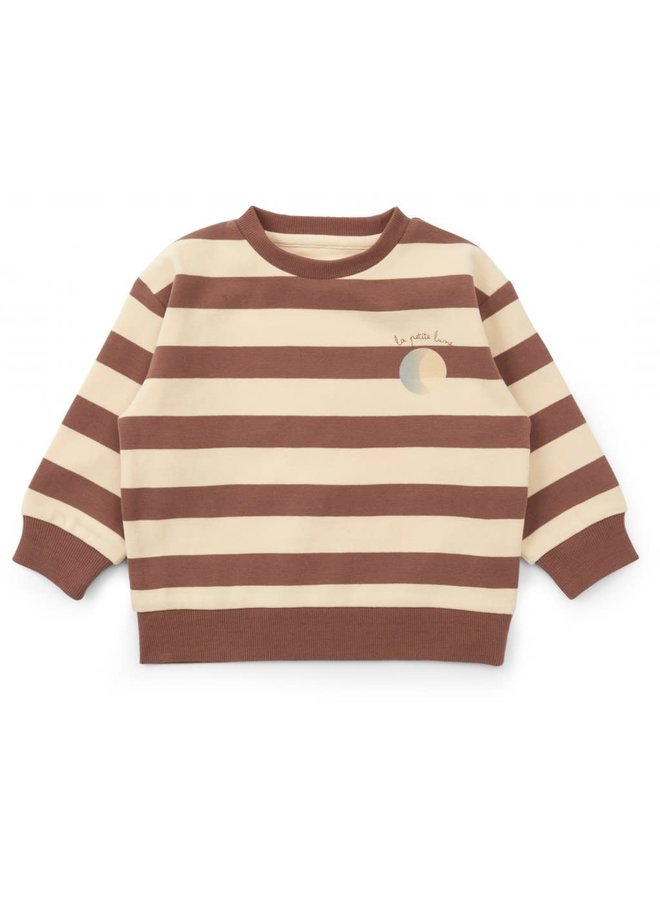 Lou sweatshirt - Striped fig brown