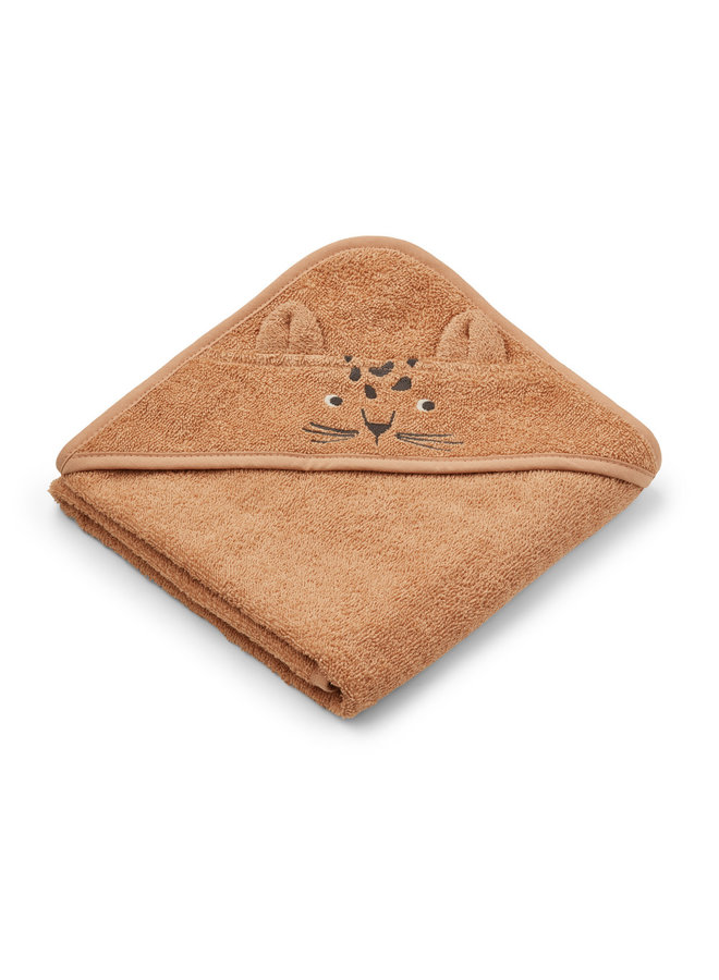 Albert hooded towel - Leopard Apricot