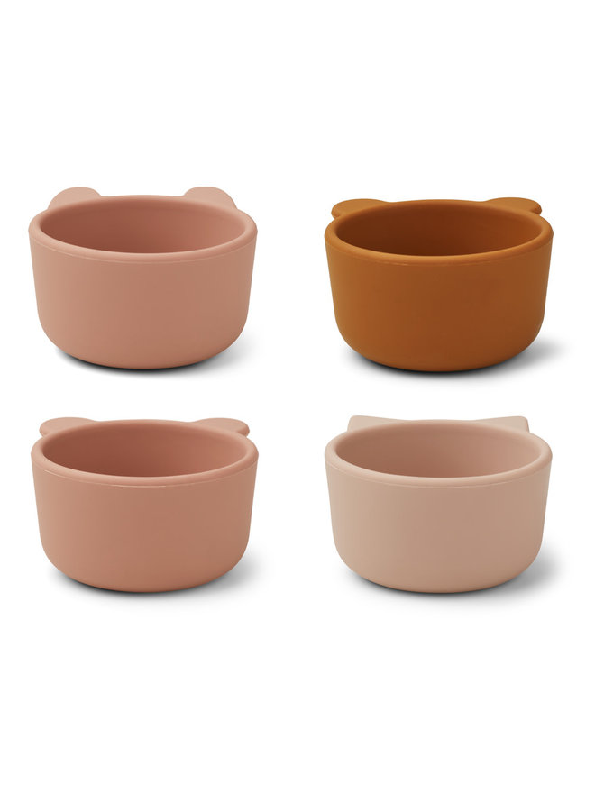 Malene silicone bowls 4 pack - Rose mix