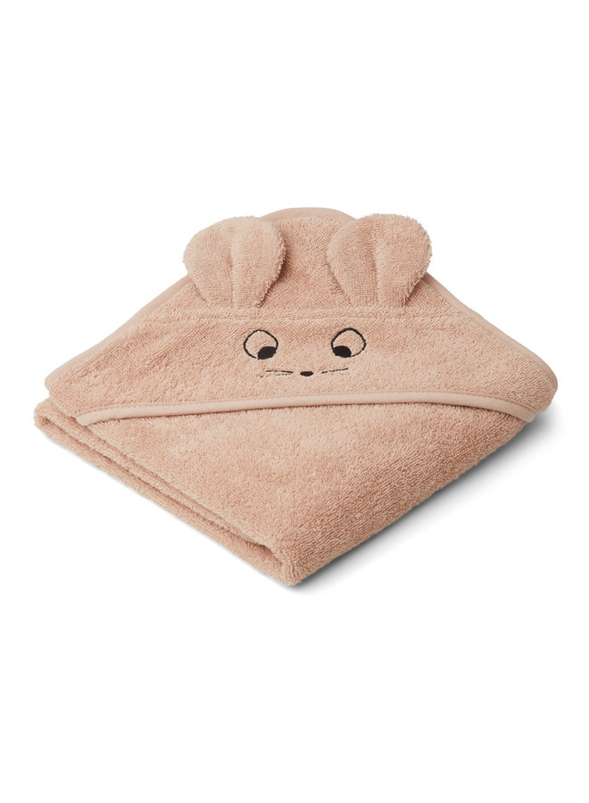 Augusta hooded towel mous - Pale Tuscany