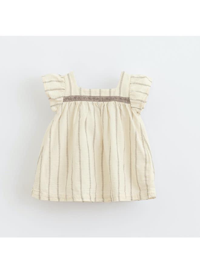 Striped woven dress - Dandelion