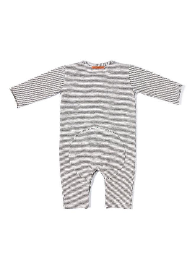 Butt onesie - Stripe black/white