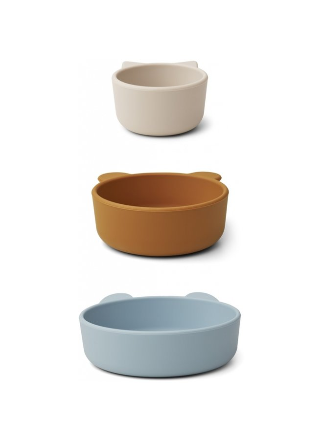 Eddie bowls 3 pack blue