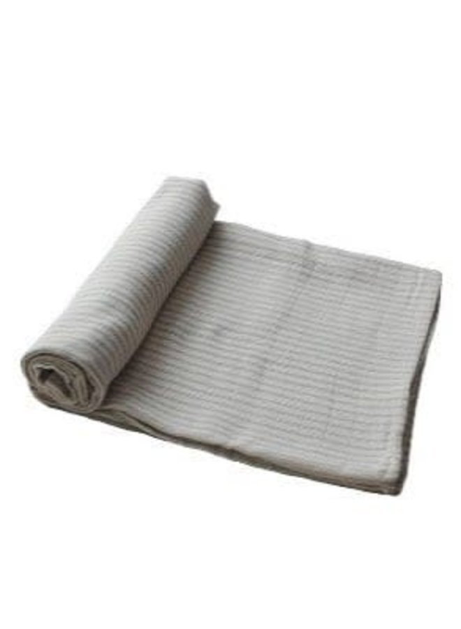 Swaddle muslin - Sage stripes