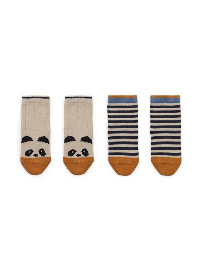 Silas cotton socks - 2 pack
