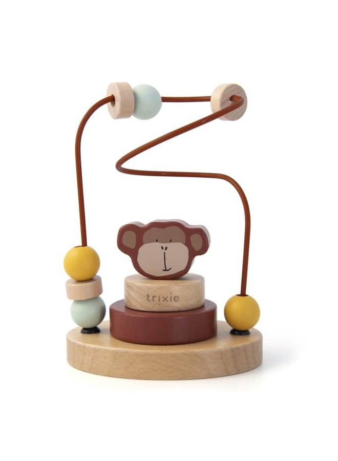 Houten kralenframe - Mr. Monkey
