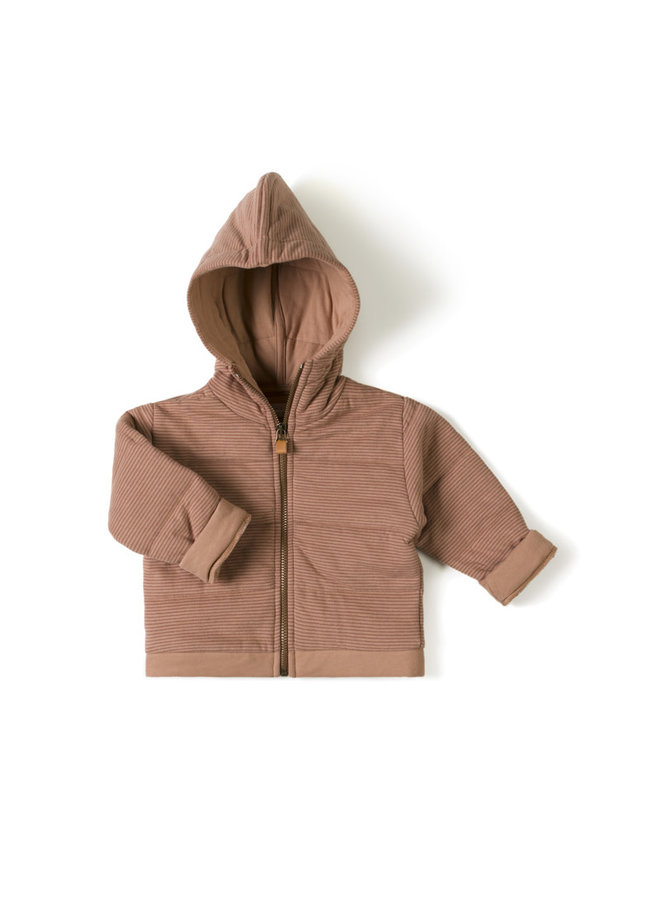 Baby jacket - Stripe rose jam
